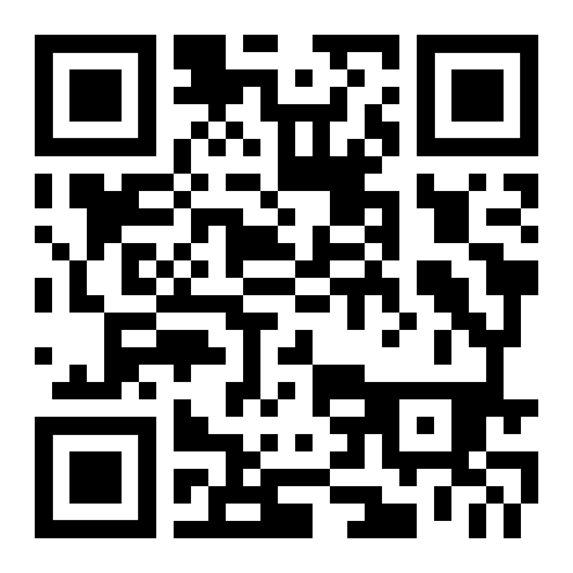 QR-Code with the Uniform Resource Locator (URL) of the Radar tutorial